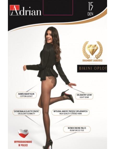 Rajstopy damskie Bikini 15 DEN - czarne