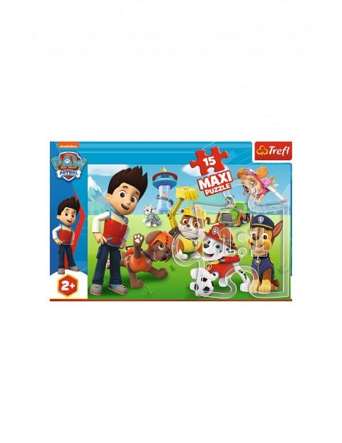 Puzzle 15 Maxi - Zabawny Psi Patrol wiek 2+