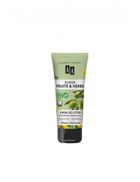 AA Super Fruits&Herbs krem do stóp oliwka&wiesiołek 75 ml