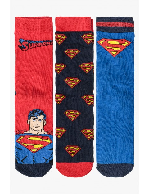 Superman- 3pak skarpet dla chłopca