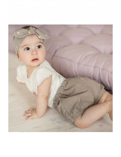 Spodenki niemowlęce brązowe- 100% bawełna