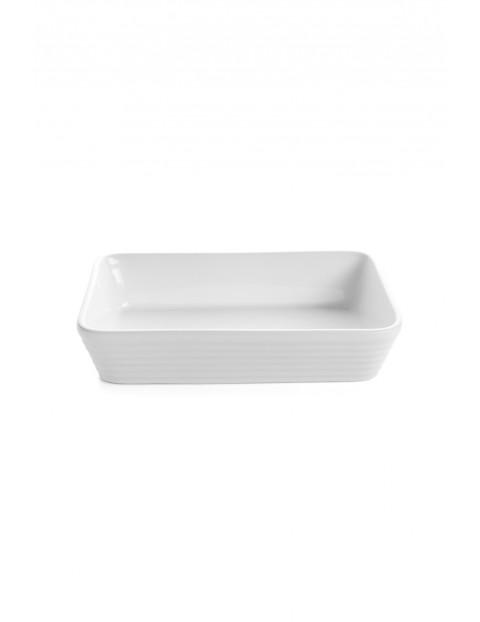 Naczynie ceramiczne Christo prostokątne w kolorze białym  20x13cm 0,6l