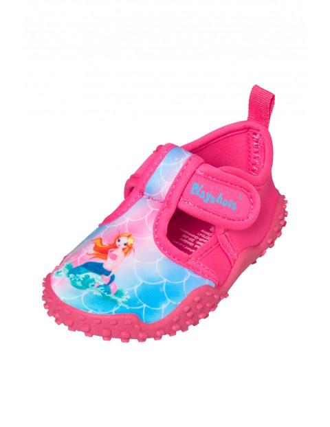 Buty kąpielowe z filtrem UV różowe - Syrenka
