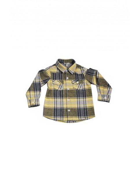 Koszula chłopięca w kratę 100% bawełna