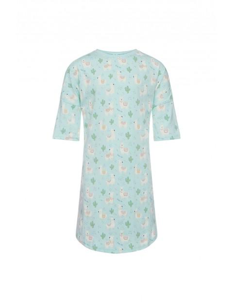 Pidżama dziewczęca - koszula nocna w lamy