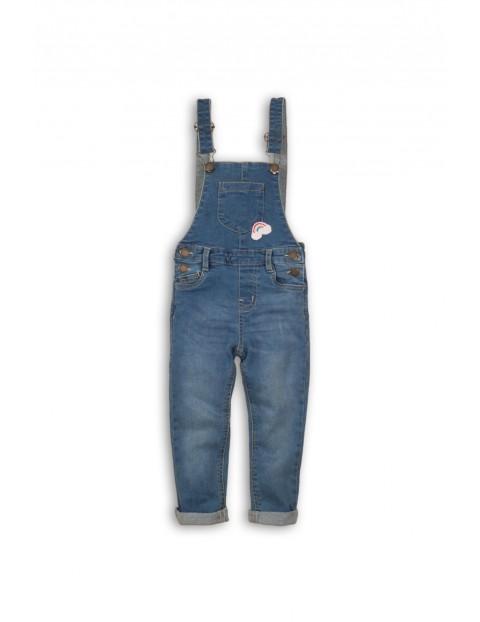 Ogrodniczki niemowlęce jeansowe dla dziewczynki
