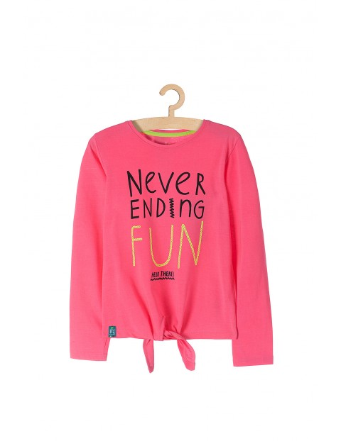 Bluza dziewczęca w kolorze neo różowym