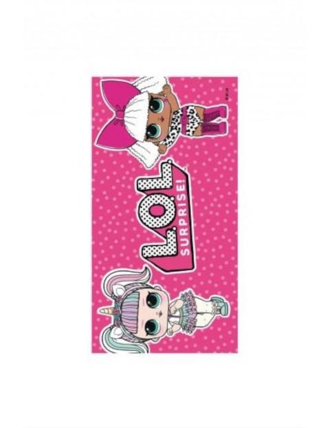 Ręcznik dziewczęcy L.O.L Surprise- różowy 70x140cm