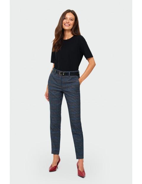 Spodnie damskie cygaretki w kratę