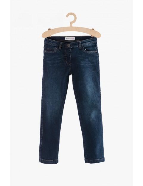 Jeansy dla dziewczynki - granatowe rurki