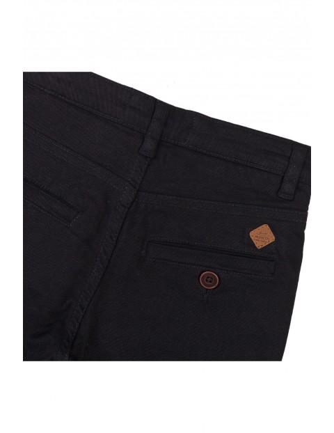 Spodnie chłopięce chinosy - czarne