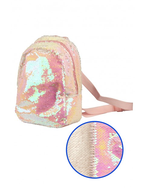 Cekinowy plecak dla dziewczynki-różowy