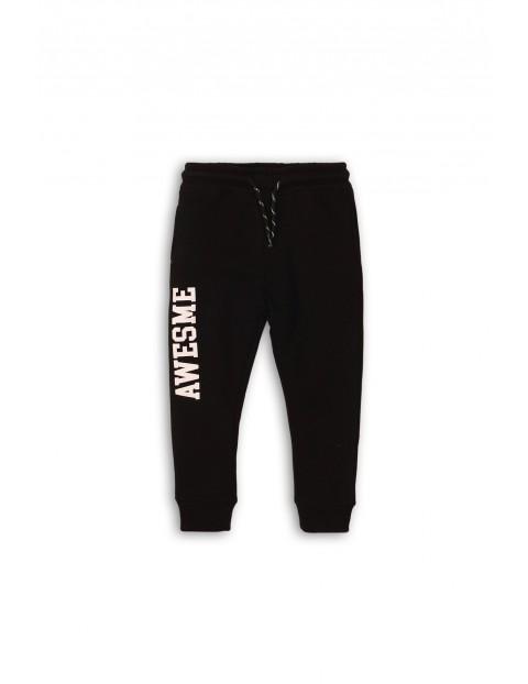 Spodnie chłopięce dresowe - czarne