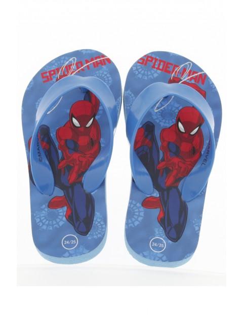 Niebieskie japonki dla chłopca Spiderman