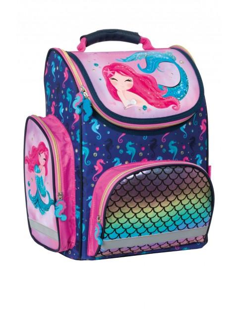 Kolorowy tornister szkolny dla dziewczynki
