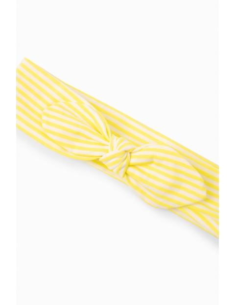 Opaska dziewczęca z kokardka - żółta
