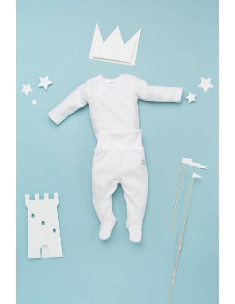 Półśpiochy niemowlęce białe-bawełniane