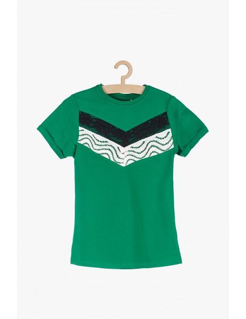 T-shirt dziewczęcy z krótkim rękawem zielony