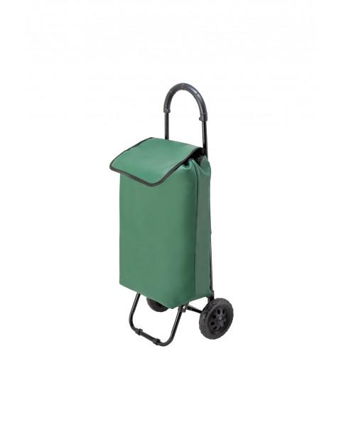Wózek/torba na zakupy - zielona na kółkach