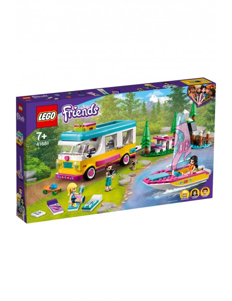 LEGO® Friends Leśny mikrobus kempingowy i żaglówka 41681 - 487 el wiek 7+