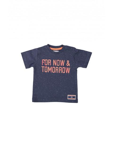 T-shirt niemowlęcy granatowy