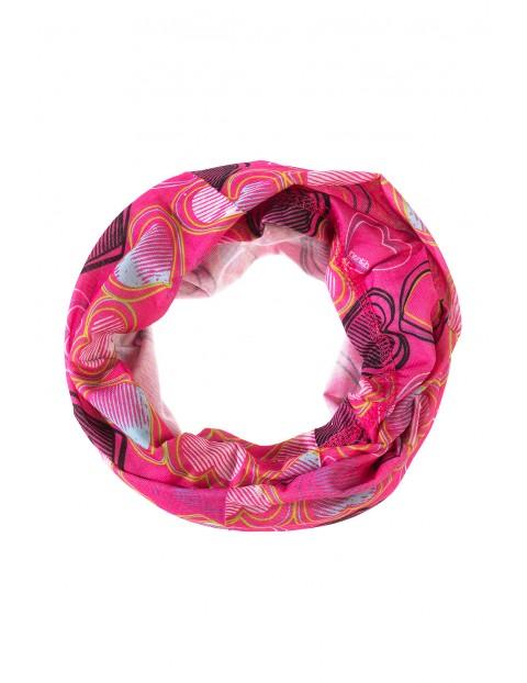 Komin różowy dla dziewczynki 4X3542