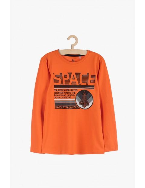 Bluzka z długim rękawem- pomarańczowa Space