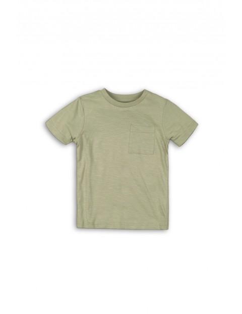 Bawełniany t-shirt chłopięcy khaki