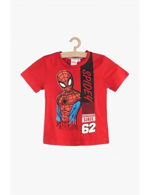 Bawełniany t-shirt chłopięcy Spiderman czerwony- rozm 140