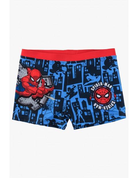 Kąpielówki chłopięce niebieskie Spiderman
