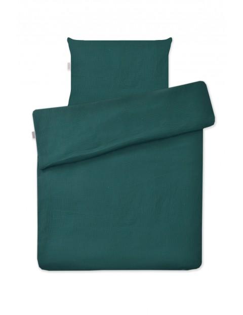 Zielona pościel 2-elementowa do łóżeczka, 135x100cm + 60x40cm