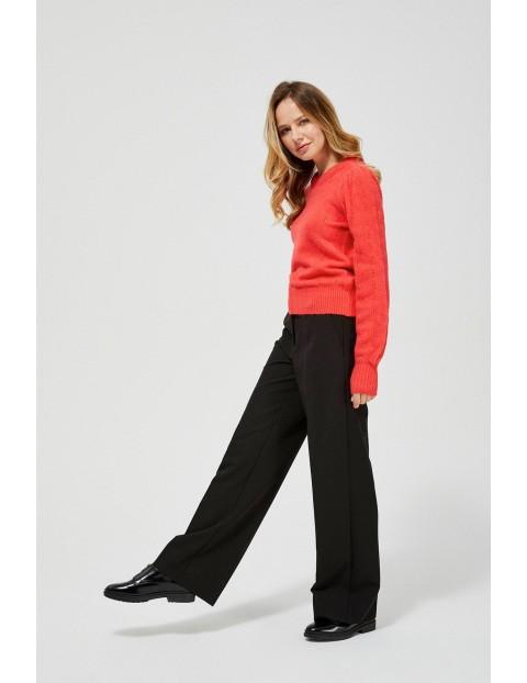 Sweter damski z ażurowym wzorem