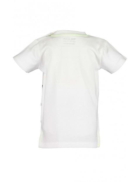 Koszulka chłopięca biała z hipopotamem