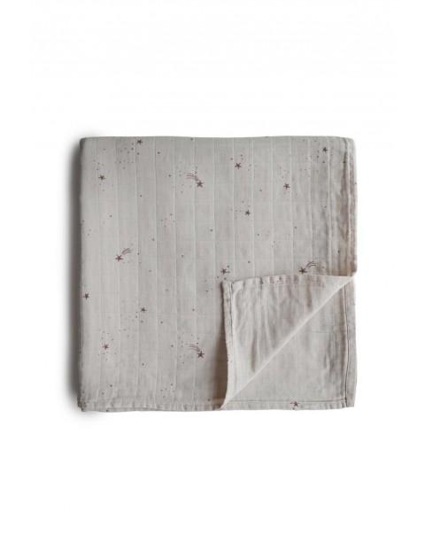 Mushie - otulacz kocyk letni 100% organic cotton Falling Stars - w gwiazdki