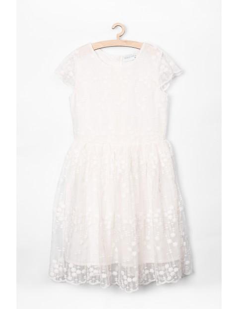 Elegancka sukienka dla dziewczynki- biała