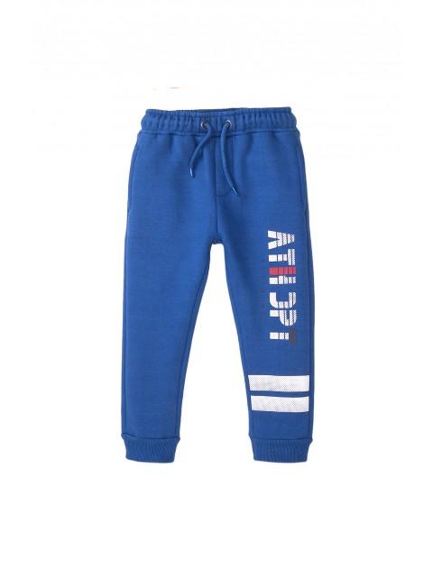 Spodnie dresowe chłopięce niebieskie
