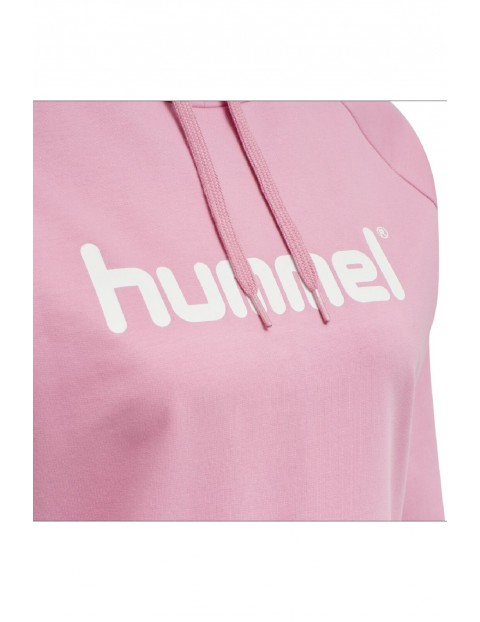 Bluza dresowa damska z kapturem Hummel - różowa