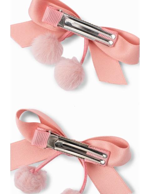 Spinki do włosów dla dziewczynki w kształcie kokardek - różowe