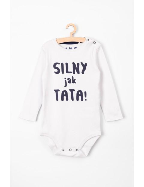 Body niemowlęce białe z napisem- Silny jak Tata