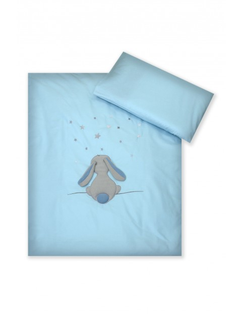 Pościel dla dzieci Amy 2-elementowa  Fluffy Sea- niebieska 135x100