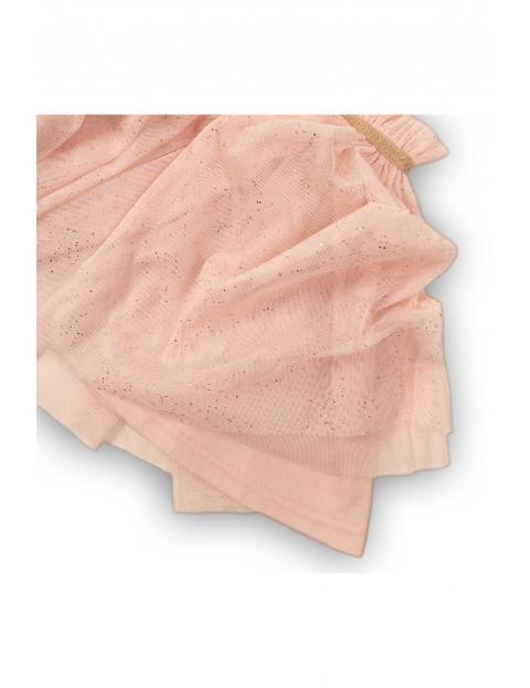 Tiulowa spódniczka dla niemowlaka- pudrowy róż