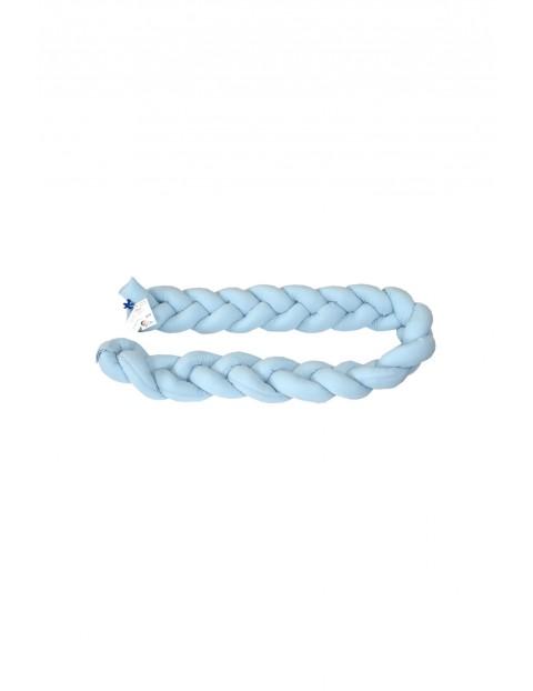 Warkocz ochraniacz bawełniany 210cm - niebieski