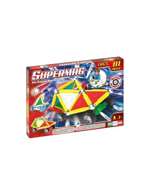 Klocki Magnetyczne Supermag Tags Wheels wiek 3+