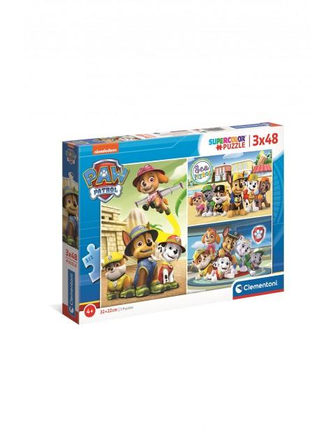 Puzzle  Super Color Psi Patrol - 3x48  elementów wiek 4+