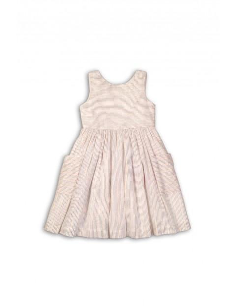 Sukienka na lato- biała w paski