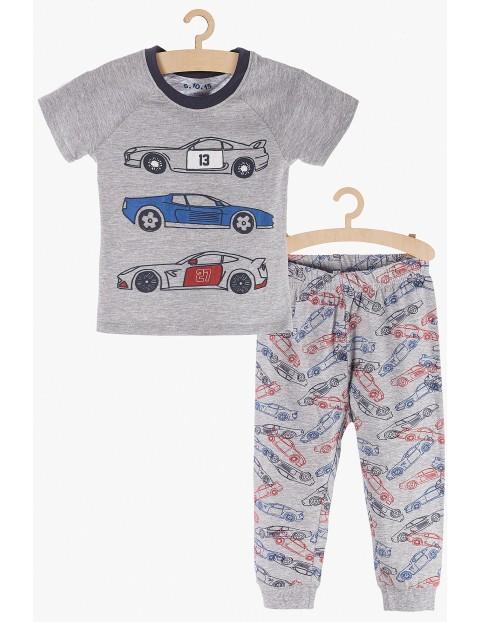 Pidżama chłopięca szara w samochody
