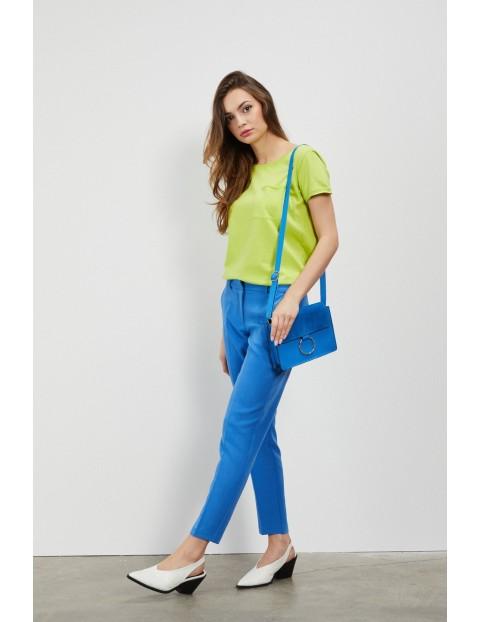 Spodnie damskie niebieskie typu cygaretki