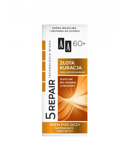 AA Technologia Wieku 5Repair 60+ Złota kuracja krem pod oczy napinająco-odżywczy 15 ml
