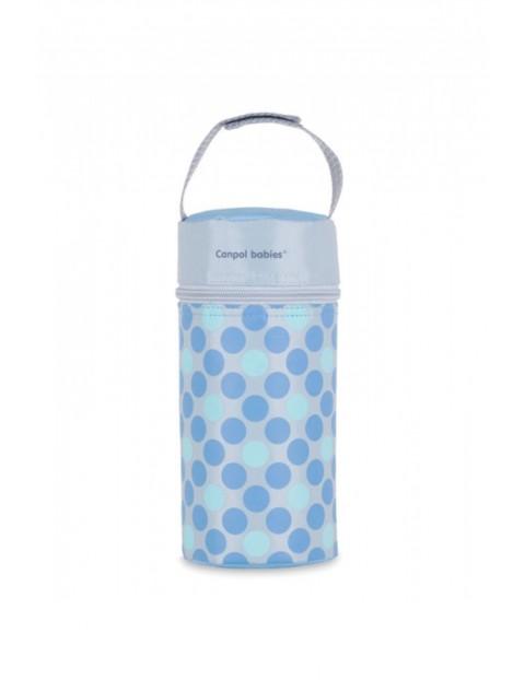 Termoopakowanie na butelkę miękkie Retro - niebieskie