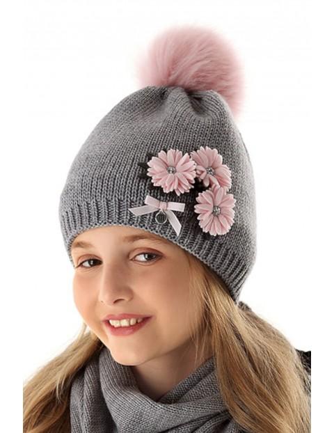 Czapka zimowa dla dziewczynki 4X35AN